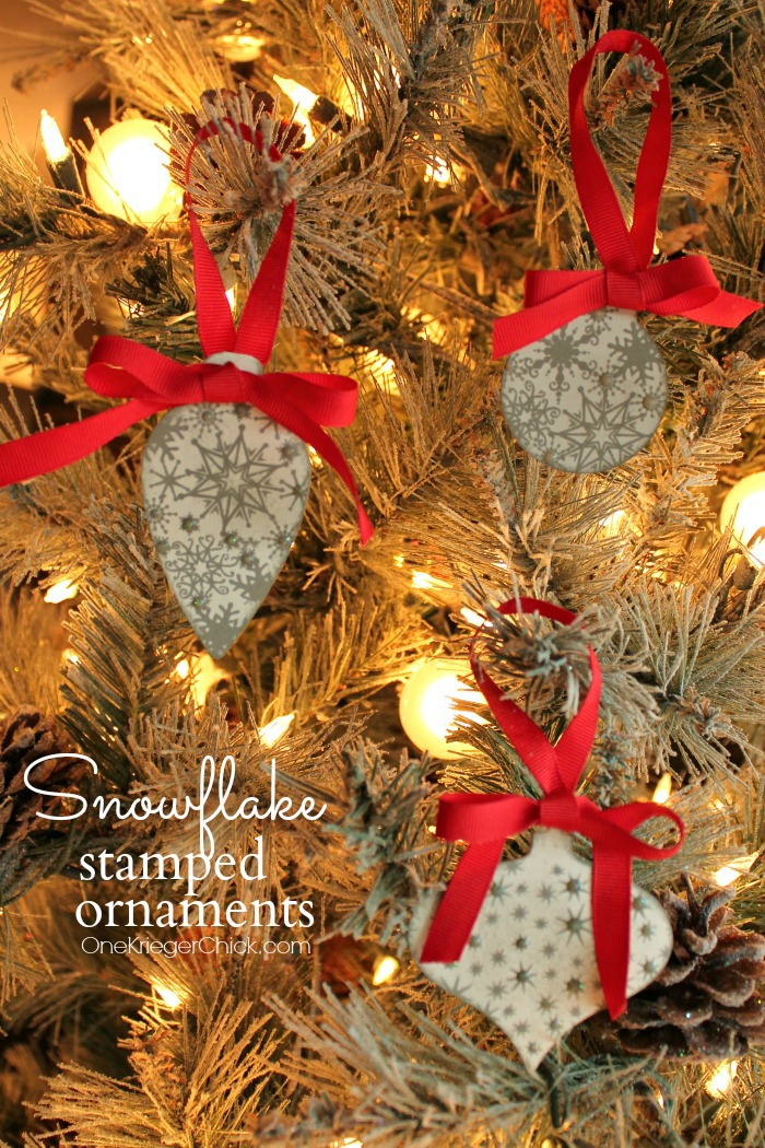 Stamped Snowflake Ornaments