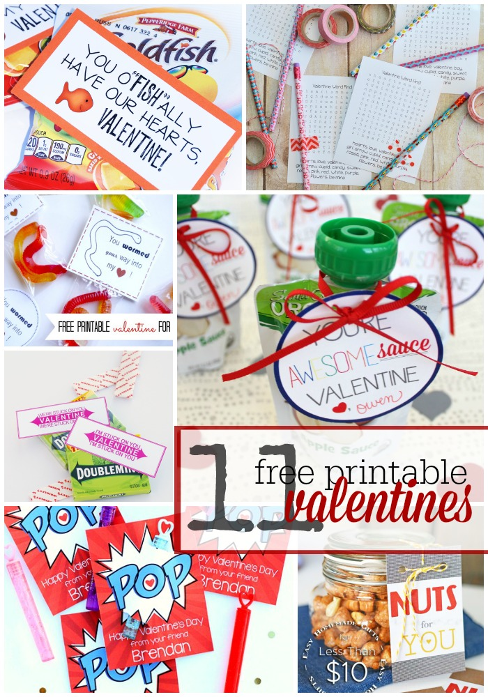 11 Adorable Free Printable Valentine Cards and Tags
