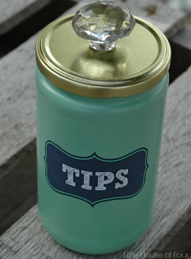 Laundry room tip jar