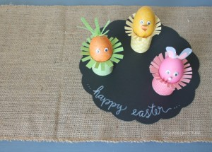 Easter Friends made from hard cooked eggs- So cute for Spring and Easter! One Krieger Chick