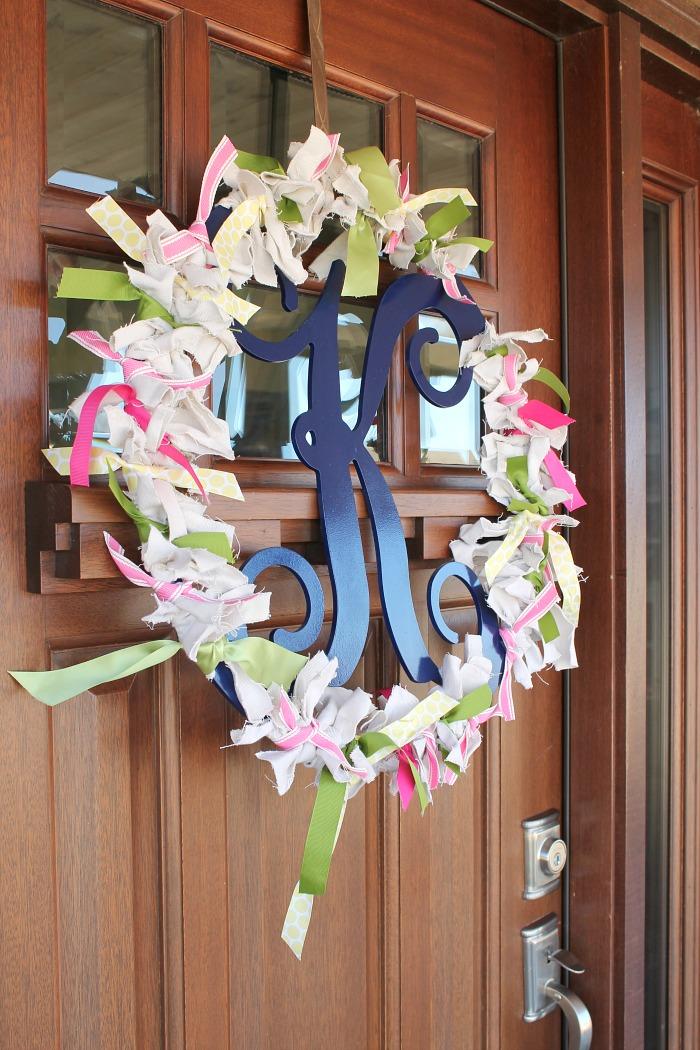 M is for Monogram {Scrappy Spring Monogram Wreath}
