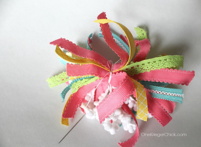 Ribbon pompom- step 3-OneKriegerChick.com