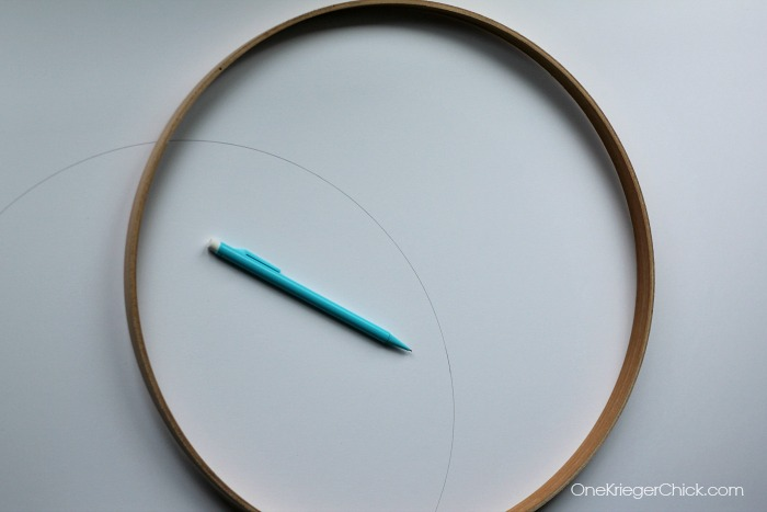how to finish back of embroidery hoop