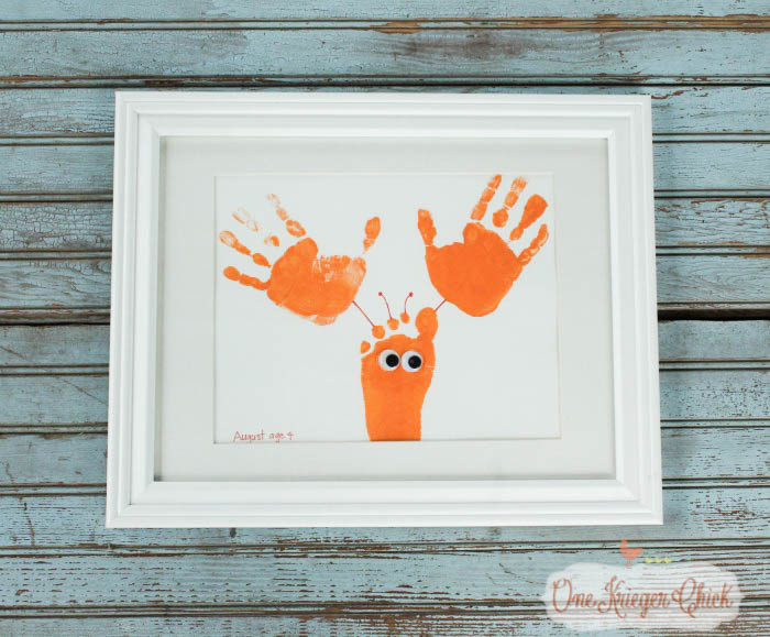 Create one of a kind Sea Animal Handprint Art- quick, easy, and oh so cute!-7- OneKriegerChick.com-1