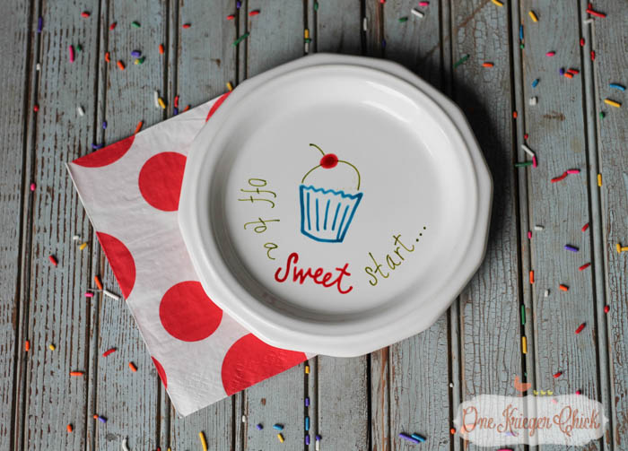 Make your own Personalized Special Message Dishes in less than 15 minutes- OneKriegerChick.com 16-1