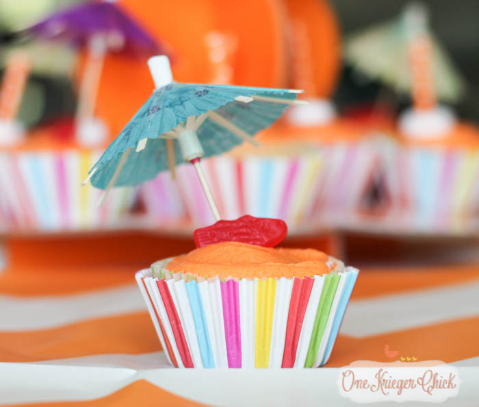 Beachy Orange Creamsicle Cupcakes- perfect for a Pool Party!-1- OneKriegerChick