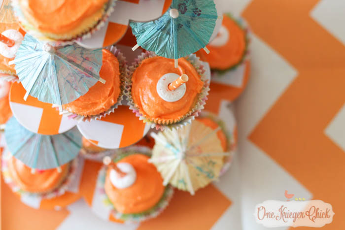 Beachy Orange Creamsicle Cupcakes- perfect for a Pool Party!-3- OneKriegerChick