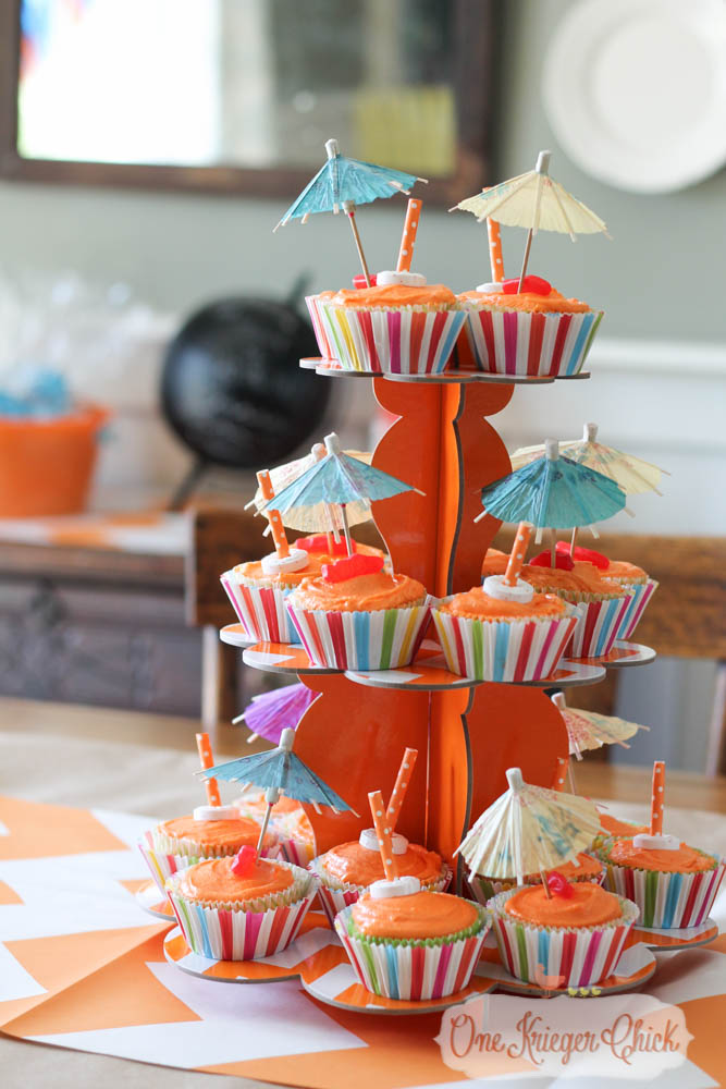 Beachy Orange Creamsicle Cupcakes- perfect for a Pool Party!-4- OneKriegerChick