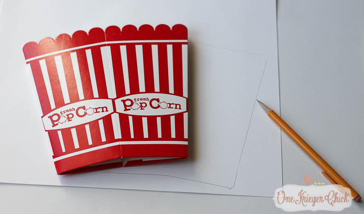 How to make your own Candy Corn Popcorn Box...So cute! -OneKriegerChick