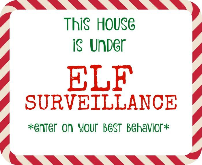 Elf Surveillance printable