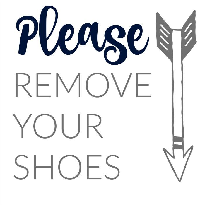Please Remove Your Shoes printable sign- OneKriegerChick.com
