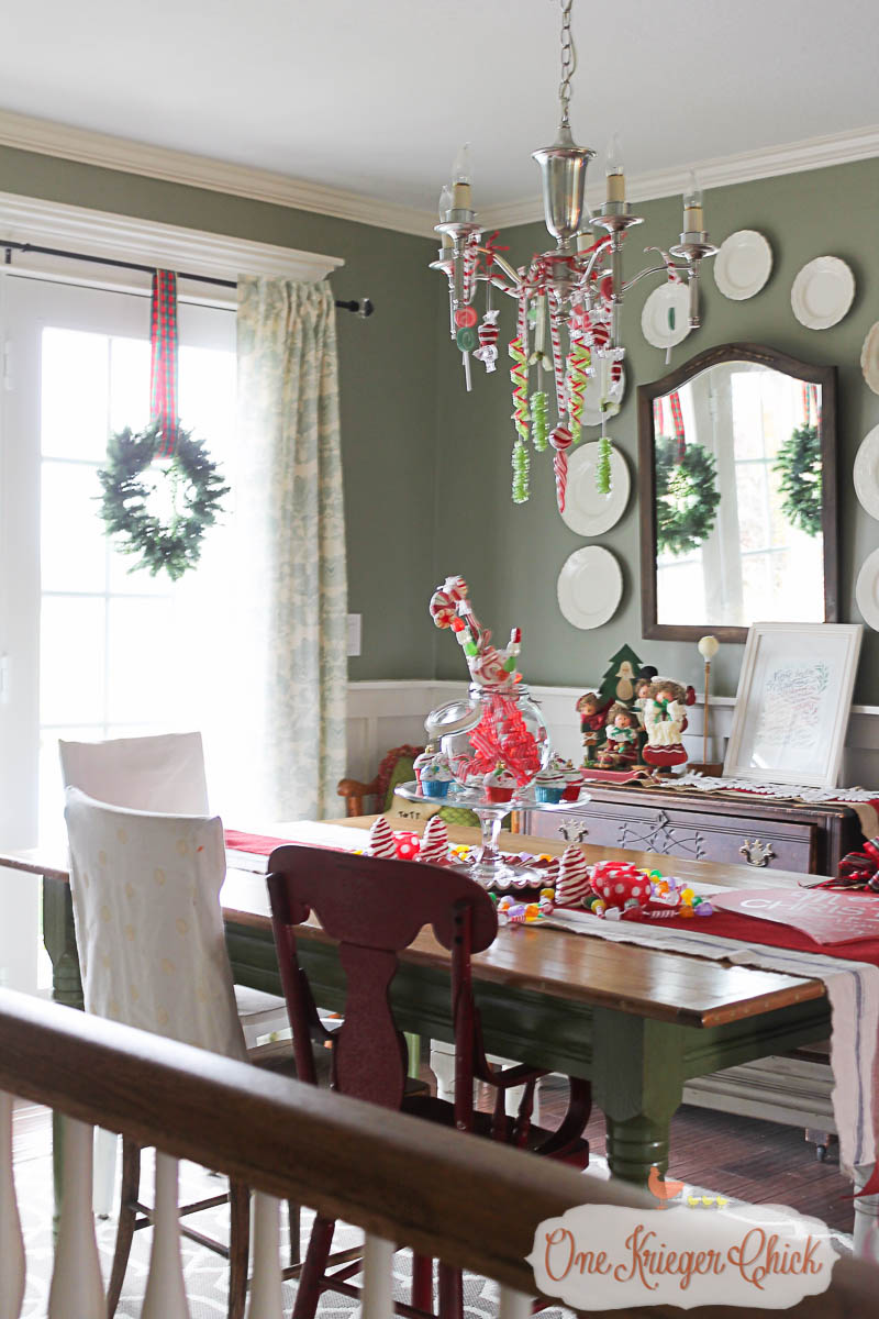 Warm and welcoming Christmas Dining Room- OneKriegerChick Home Tour