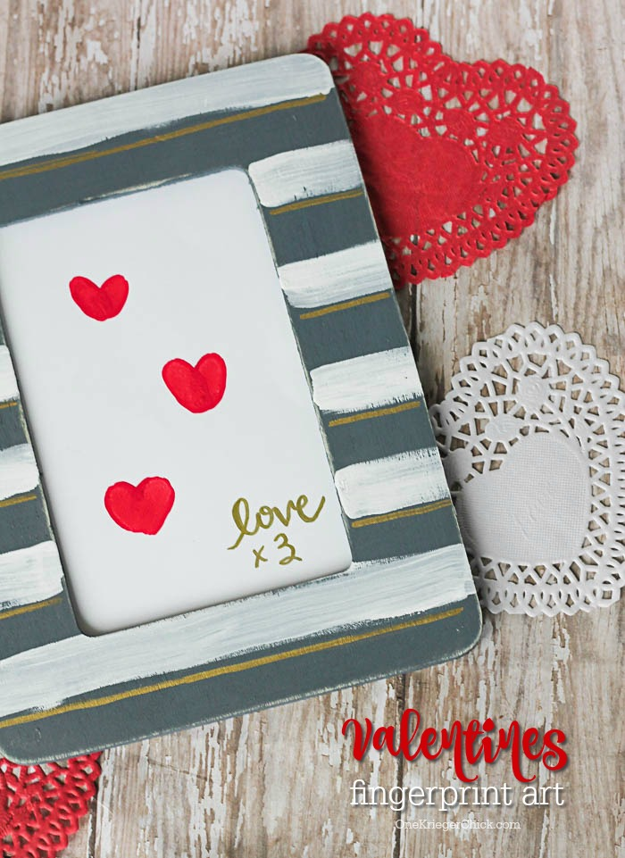How to make the cutest Valentines Fingerprint Art...in less than 15 minutes!!- OneKriegerChick.com