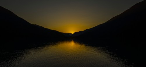 Sunset at Cheakamus Lake