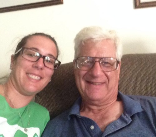 me and my pop watching the Argentina world cup game in June 2014