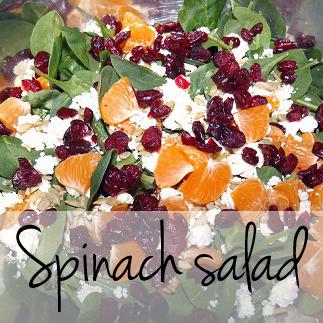 Healthful spinach salad recipe