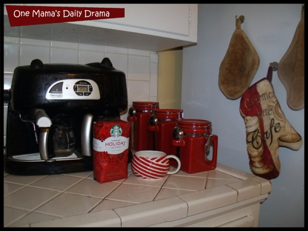 kitchen full of coffee