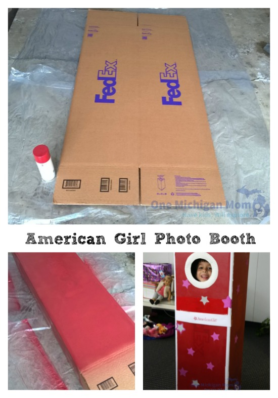American girl photo booth how to DIY