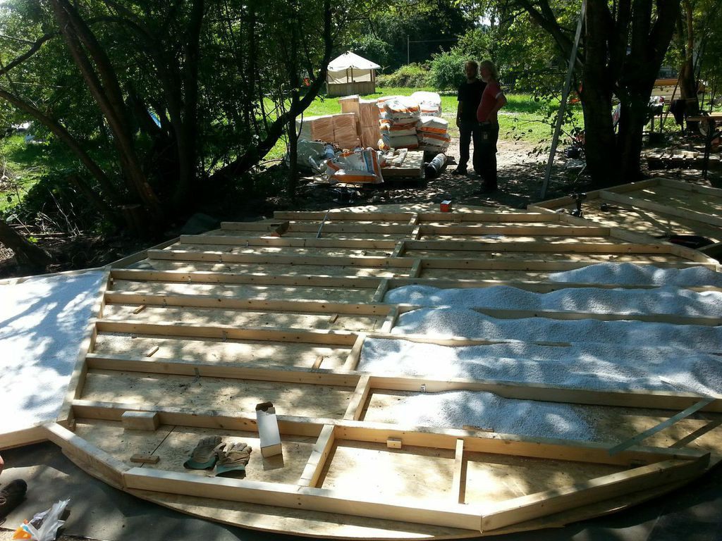 How to Build a Yurt - Phase 4 - The Foundation