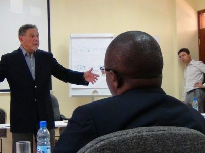 George Pransky leading a training session with Kenya State Police.