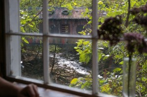 Covered bridge as seen from Clifton Mill Restaurant