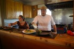 Owners Ken and Kelly Tarsitano in Kitchen at Tarsitano Winery