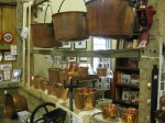 Hand hammered copper pots made in Ohio