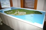 Bas-relief Map of Johnson Island Prison in 1860's at Ohio Veterans Home Museum in Sandusky