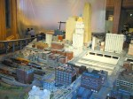 The exhibit spans the years of 1890 to 1940 in miniature models