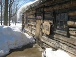 Entrance to store at Burton Log Cabin