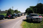 Yard Sale Traffic along highway