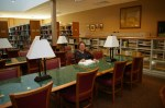 Sunda Anderson Peters in Reading Room of new OGS Library