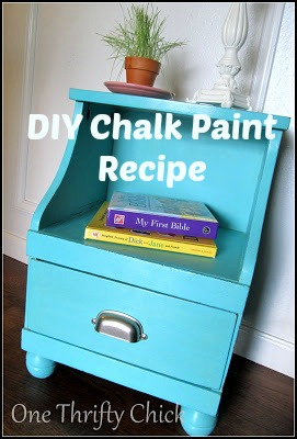 DIY Chalk Paint {Nightstand Makeover}