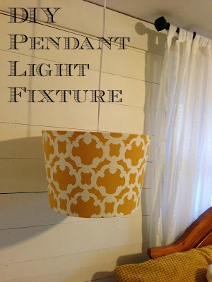 DIY Lampshade Pendant {Budget Friendly}