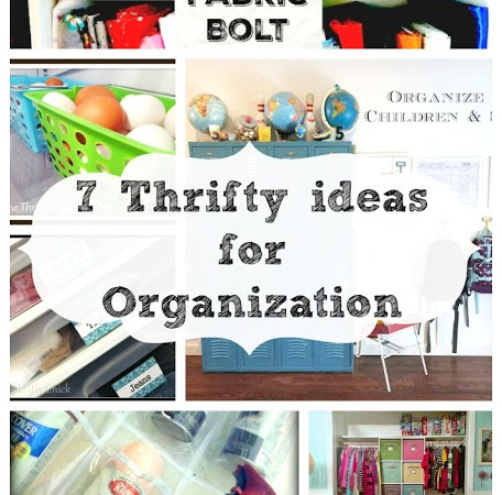 7 Thrifty Ideas for Organization { Free Printables }
