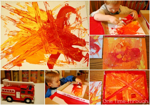 Firefighter birthday party fiery arts and crafts one for Craft paint safe for babies