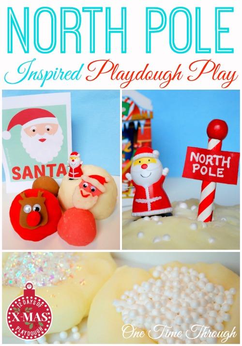 North Pole Inspired Playdough Play