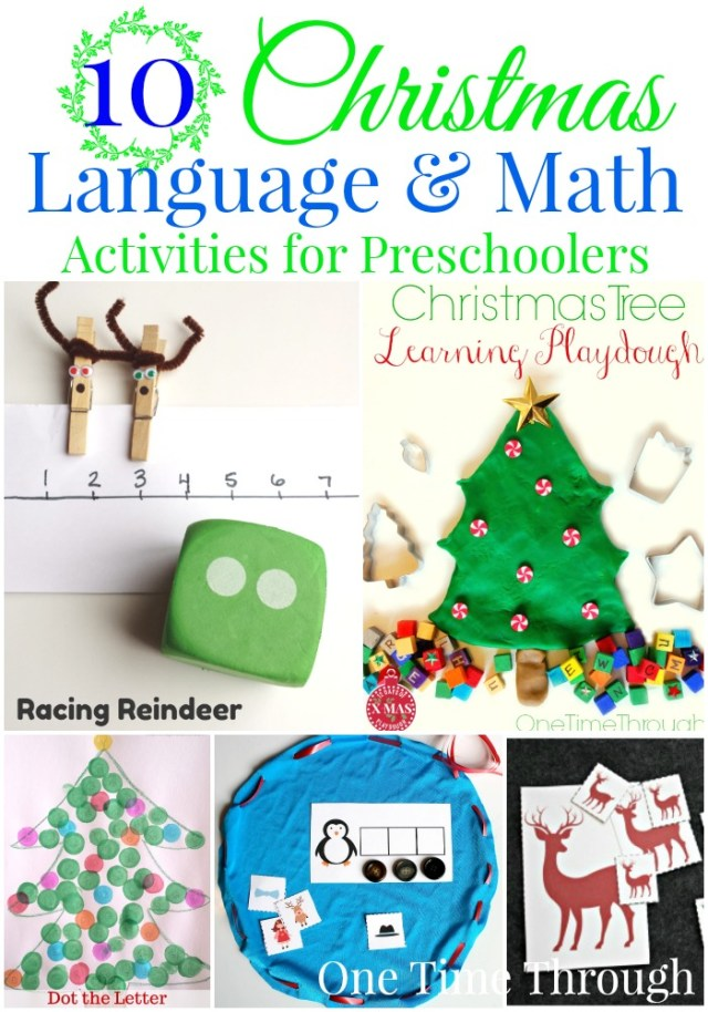 10 Christmas Language and Math Activities for Preschoolers