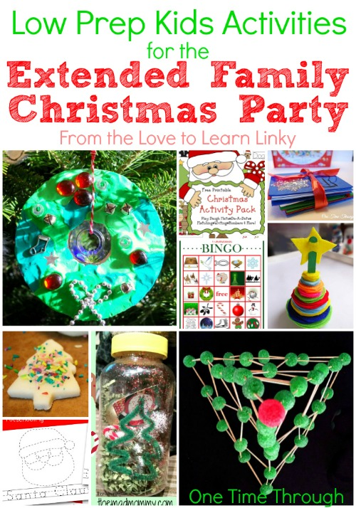 Low Prep Kids Activities for the Extended Family Christmas Party