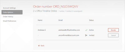 How to transfer a license to another user – Office Timeline Online Support Center