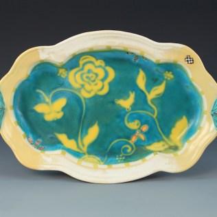 Akar Gallery - Platter with Romantic Garden Design