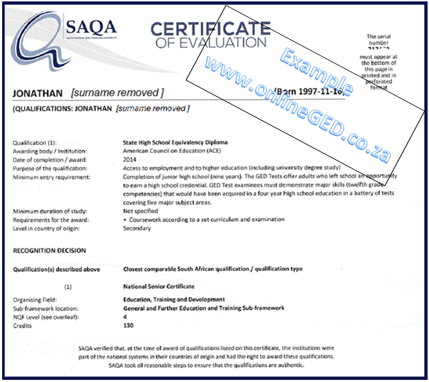how to get year 12 certificate sa
