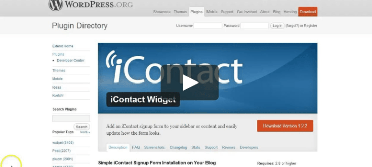 iContact WordPress-Autoresponder