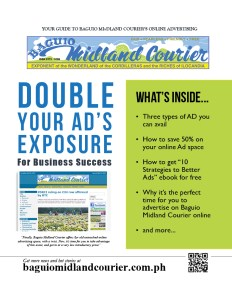 Baguio Midland Courier Online Advertising Information Page