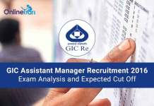 GIC Assistant Manager Exam Analysis and Expected Cut Off 2016