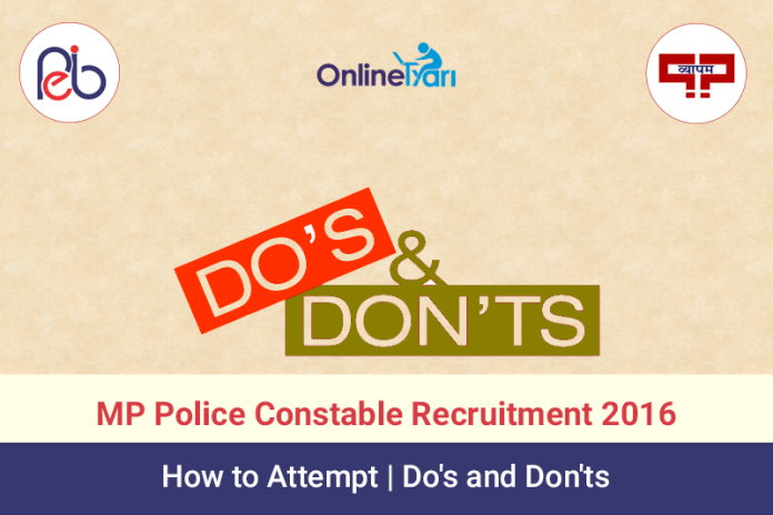 How to Attempt MP Police Constable 2016