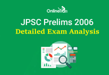 JPSC Prelims Exam Analysis 2006