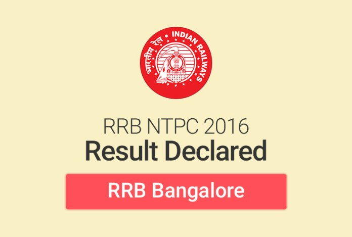 RRB NTPC Result 2016 for Bangalore: Check Merit List