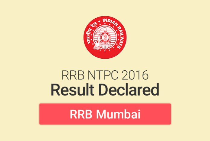RRB NTPC Result 2016 for Mumbai: Check Merit List