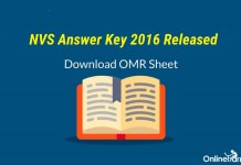 NVS Answer Key 2016 Released: Download your OMR Sheet